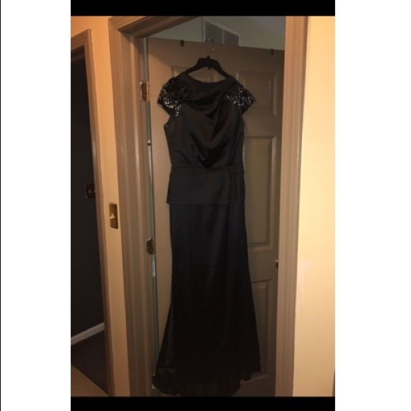 14% off Dresses & Skirts - Black Satin Evening Gown from Ayeh\'s ...